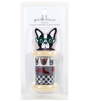 Park Lane Paperie 3 pk Washi Tape Rolls with Spool-Bulldog