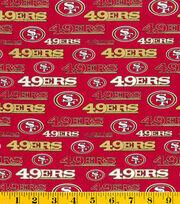 San Francisco 49ers Cotton Fabric -Glitter, , hi-res