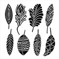 Crafter\u0027s Workshop Templates Fancy Feathers