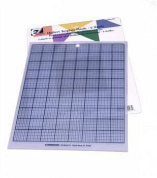 EZ Quilting 6 pk 8.5''x11'' Plastic Grid Sheets for Template