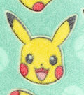 Pokemon Burnout Fleece Fabric 58\u0022-3D Pika