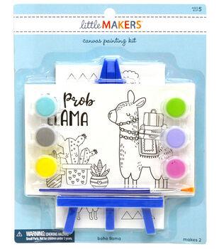 Little Makers 2Pk 4X6 Canvas Easel Kit-Llama
