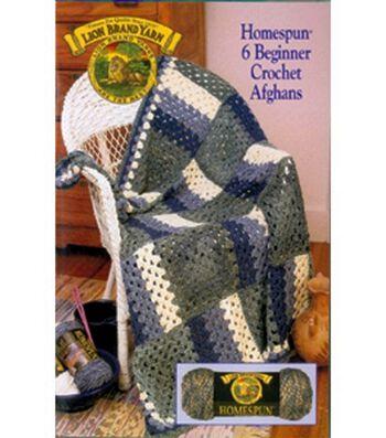 Lion Brand-Homespun 6 Beginner Crochet Afghans