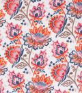 Anti-Pill Plush Fleece Fabric-Bright Watercolor Floral