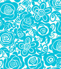 Tutti Fruitti Embossed Fabric Splash Tropical Turquoise