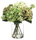Bloom Room Luxe 19\u0027\u0027 Hydrangea Snowball In Glass-Green