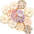 Prima Marketing Mulberry Paper Flowers-Blessed/Spring Farmhouse
