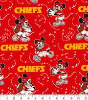 Kansas City Chiefs Cotton Fabric-Mickey, , hi-res