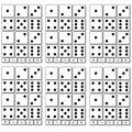Ashley Productions Math Die-Cut Magnets, Dice, 17 Pieces Per Set, 6 Sets