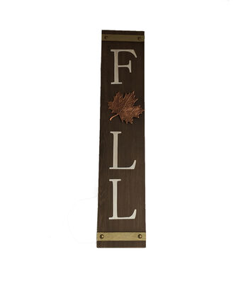 Simply Autumn Vertical Porch Sign-Fall