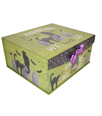 Organizing Essentials Large Fliptop Storage Box-Haunted Halloween