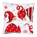 Vervaco Needlepoint Cushion Top DIY Kit-Christmas Gnomes I - Wichtel