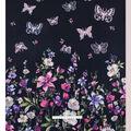 No Sew Fleece Throw 72\u0022-Floral Butterfly