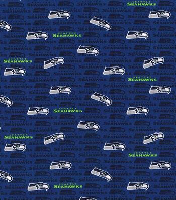 "Seattle Seahawks Cotton Fabric 58""-Mini Print"