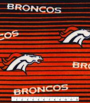 Denver Broncos Fleece Fabric -Linear, , hi-res