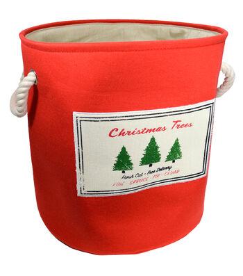 Christmas Medium Soft Storage Bin-Christmas Trees