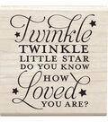 Jillibean Soup Mounted Stamp 2.5\u0022X2.5\u0022-Twinkle Little Star
