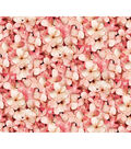 Keepsake Calico Cotton Fabric-Pink Photoreal Petals