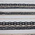Casa Dahlia Sequin Mesh Fabric-Crossover & Stripes