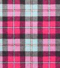 Snuggle Flannel Fabric -Pink & Aqua Plaid