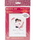 RIOLIS Combopu Cama 7\u0027\u0027x9.5\u0027\u0027 Counted Cross Stitch Kit-Wedding Metric