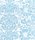 Snuggle Flannel Fabric -Light Blue Damask