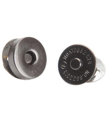 Bag Works Magnetic Purse/Tote Snap 1/Pkg-Onyx Mini