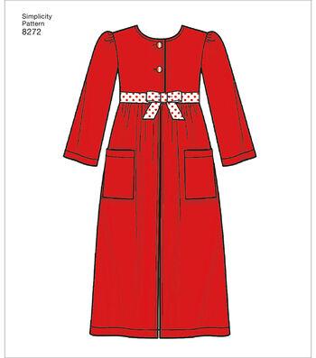 Simplicity Pattern 8272 Children's/Girls' Sleepwear-Size K5 (7-14)
