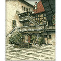 RTO Castle Courtyard Counted Cross Stitch Kit