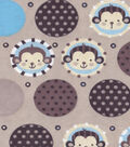 Snuggle Flannel Fabric -Monkey Dots