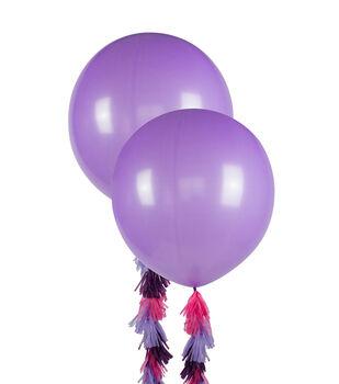 Balloon Kit-Purple Tassels