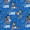 Detroit Lions Cotton Fabric-Mickey Mouses