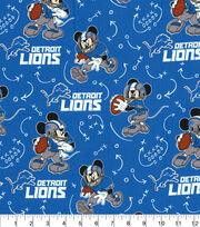 Detroit Lions Cotton Fabric-Mickey Mouses, , hi-res
