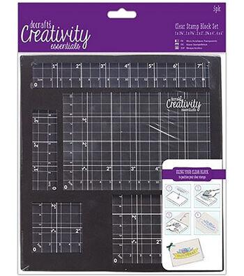 Creativity Essentials 5 pk Clear Stamp Block Set