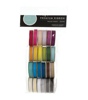American Crafts Solid Satin Ribbon - 24PK, , hi-res