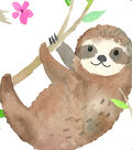 Anti-Pill Fleece Fabric-Just Hanging Sloth
