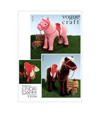Vogue Patterns Crafts Animals-V9194