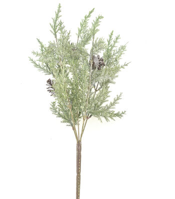 Blooming Holiday Christmas 20'' Frosted Pinecone & Greenery Bush