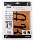 FolkArt 17 pk 5\u0027\u0027 Alphabet & Monogram Paper Stencils-Italic