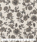 Snuggle Flannel Fabric-Floral On Cream