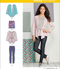 Simplicity Patterns Us1025Aa-Simplicity Knit Separates For Girls\u0027 And Girls\u0027 Plus-8-10-12-14-16