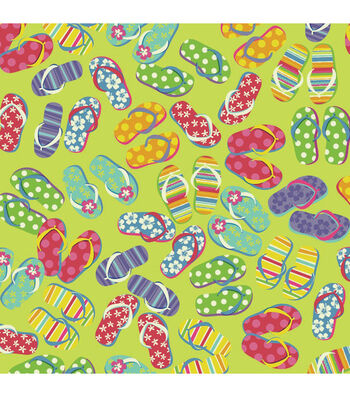 "Carolina Domestic Bandanna 22""X22""-Flip Flop Fun"