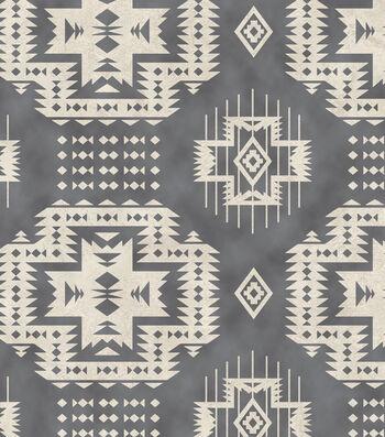 "Anti-Pill Fleece Fabric 58""-Gray Southwest"