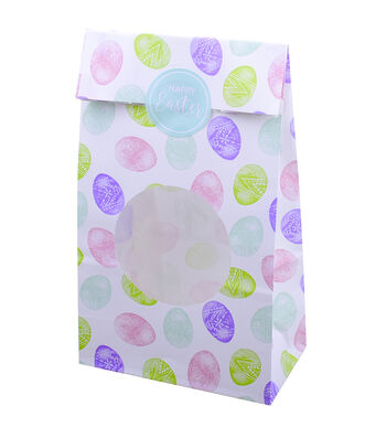 Easter 10 pk Treat Bags with Round Window-Easter Eggs
