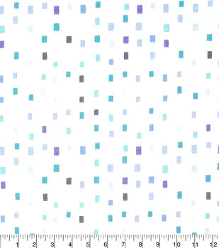 Keepsake Calico Cotton Fabric-Blue Multi Square