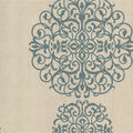 Iman Aqua Medallion Wallpaper Sample