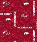 University of Arkansas Razorbacks Fleece Fabric -Digital