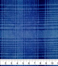 Specialty Fleece Fabric-Blue Mica & Navy Plaid