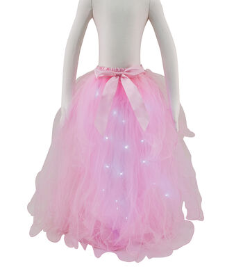 Maker's Halloween Child Long Tutu with LED Lights-Pink