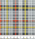 Soft & Comfy Fleece Fabric-Construction Plaid